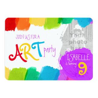 Fiesta de cumpleaños de la pintura del fiesta del comunicados personalizados