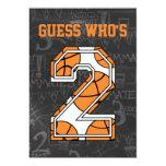 Fiesta de cumpleaños de la pizarra del baloncesto invitación