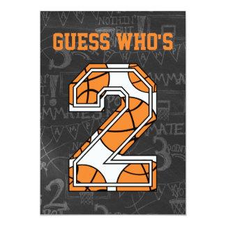 """Fiesta de cumpleaños de la pizarra del baloncesto invitación 5"""" x 7"""""""