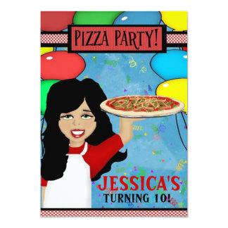 """Fiesta de cumpleaños de la pizza invitación 5"""" x 7"""""""