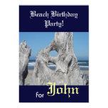 Fiesta de cumpleaños de la playa para sus invitación 12,7 x 17,8 cm