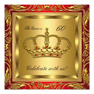 """Fiesta de cumpleaños de la reina o de rey Regal Invitación 5.25"""" X 5.25"""""""