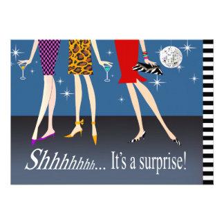 Fiesta de cumpleaños de la sorpresa de las chicas invitaciones personales