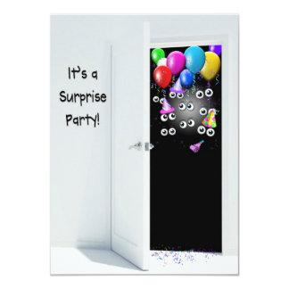 """Fiesta de cumpleaños de la sorpresa detrás de la invitación 4.5"""" x 6.25"""""""