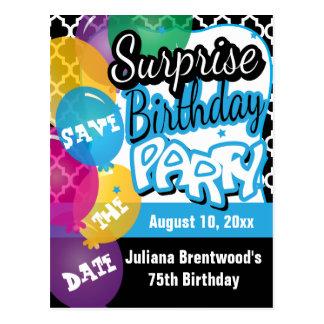 Fiesta de cumpleaños de la sorpresa en reserva del postales