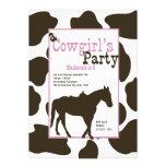 Fiesta de cumpleaños de la vaquera comunicados personales