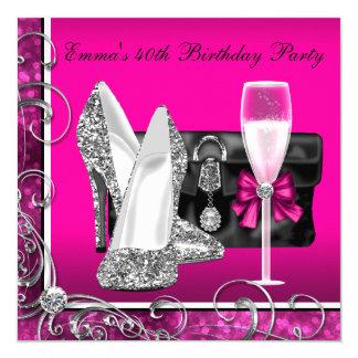 """Fiesta de cumpleaños de las rosas fuertes de la invitación 5.25"""" x 5.25"""""""