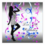 Fiesta de cumpleaños de las rosas fuertes del azul invitacion personal
