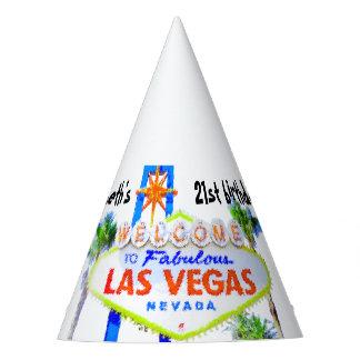 Fiesta de cumpleaños de Las Vegas personalizada Gorro De Fiesta