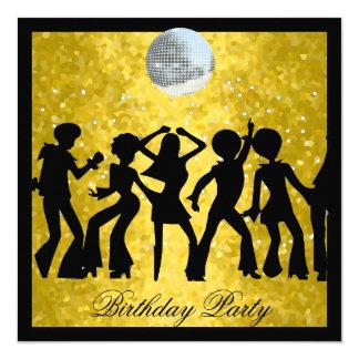 """Fiesta de cumpleaños de los años 70 del disco invitación 5.25"""" x 5.25"""""""