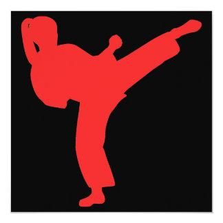Fiesta de cumpleaños de los chicas del karate invitacion personal