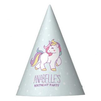 Fiesta de cumpleaños de los chicas del unicornio gorro de fiesta