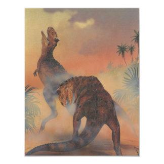 Fiesta de cumpleaños de los dinosaurios del invitación personalizada