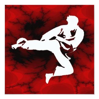 Fiesta de cumpleaños de los muchachos del karate invitacion personalizada