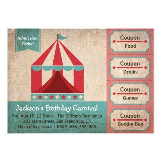 Fiesta de cumpleaños de los niños - boleto de la a invitacion personal