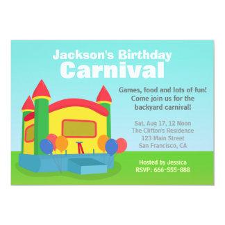 Fiesta de cumpleaños de los niños - carnaval feliz invitación 12,7 x 17,8 cm