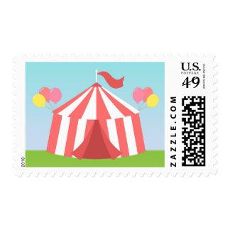 Fiesta de cumpleaños de los niños - carnaval feliz timbre postal