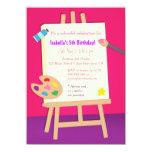 Fiesta de cumpleaños de los niños de los artes de invitaciones personalizada
