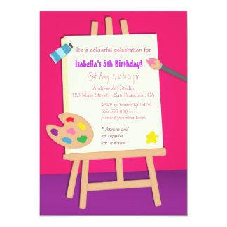 Fiesta de cumpleaños de los niños de los artes de invitación 11,4 x 15,8 cm