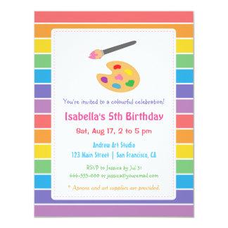 """Fiesta de cumpleaños de los niños de los artes de invitación 4.25"""" x 5.5"""""""