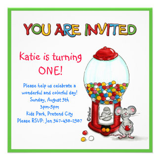 Fiesta de cumpleaños de los niños - invitación de
