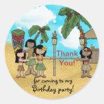 Fiesta de cumpleaños de Luau del limbo - gracias Etiqueta