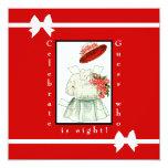 Fiesta de cumpleaños de papel de la muñeca invitación 13,3 cm x 13,3cm