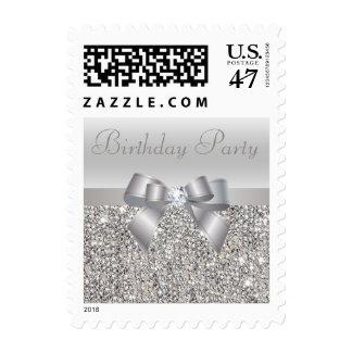 Fiesta de cumpleaños de plata de las lentejuelas, timbres postales