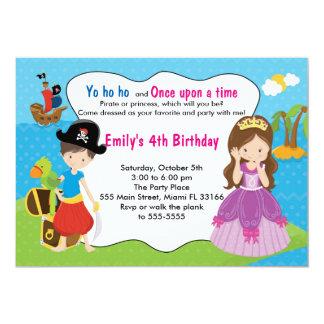 """Fiesta de cumpleaños de princesa Invitation Kids Invitación 5"""" X 7"""""""
