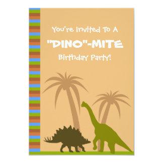 Fiesta de cumpleaños del ácaro de Dino del Invitación 12,7 X 17,8 Cm