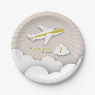 Fiesta de cumpleaños del aeroplano - amarillo