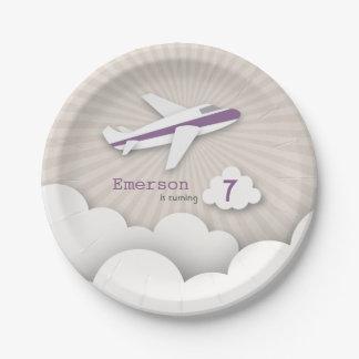 Fiesta de cumpleaños del aeroplano - púrpura