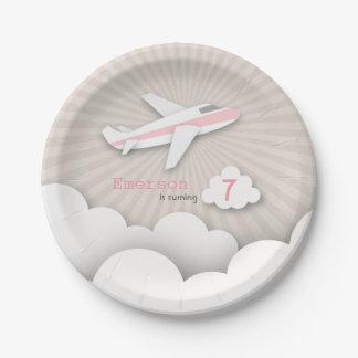 Fiesta de cumpleaños del aeroplano - rosa
