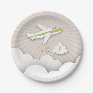 Fiesta de cumpleaños del aeroplano - verde