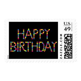 Fiesta de cumpleaños del arco iris del fiesta del sello
