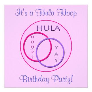 Fiesta de cumpleaños del aro de Hula de los niños Anuncios
