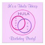 Fiesta de cumpleaños del aro de Hula de los niños Invitación 13,3 Cm X 13,3cm
