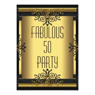 Fiesta de cumpleaños del ART DÉCO 50 fabulosos Invitación 11,4 X 15,8 Cm
