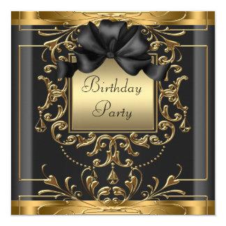 Fiesta de cumpleaños del art déco invitación 13,3 cm x 13,3cm