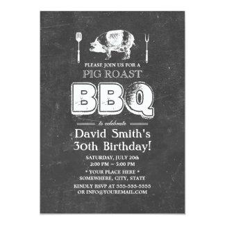 """Fiesta de cumpleaños del Bbq de la carne asada del Invitación 5"""" X 7"""""""