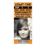 Fiesta de cumpleaños del boleto de la foto del VIP Invitación 10,1 X 23,5 Cm