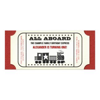 Fiesta de cumpleaños del boleto de tren del invitación 10,1 x 23,5 cm