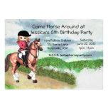 Fiesta de cumpleaños del caballo del chica comunicado personal