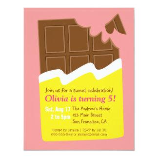 """Fiesta de cumpleaños del caramelo de la barra de invitación 4.25"""" x 5.5"""""""