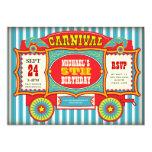 Fiesta de cumpleaños del carro del carnaval del comunicado personalizado