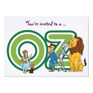 """Fiesta de cumpleaños del chica de mago de Oz del Invitación 5"""" X 7"""""""