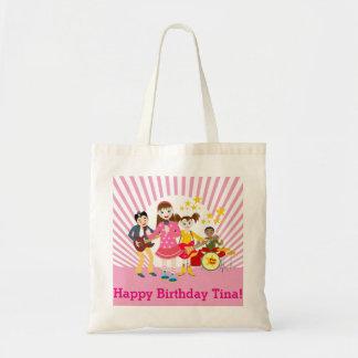Fiesta de cumpleaños del chica del estrella del bolsa tela barata
