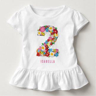 Fiesta de cumpleaños del chica del jardín de playera de bebé