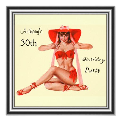 Fiesta de cumpleaños del chica y de la crema del P Anuncio Personalizado