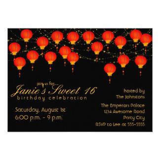 Fiesta de cumpleaños del cielo de la linterna comunicado personalizado